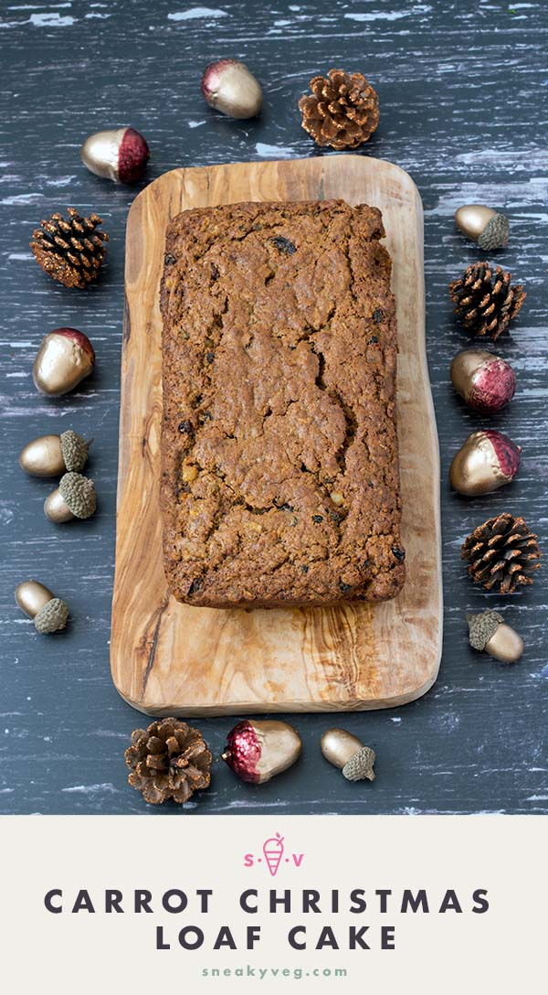 Carrot christmas loaf cake recipe by Sneaky Veg