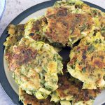 Vegan leek and herb fritters