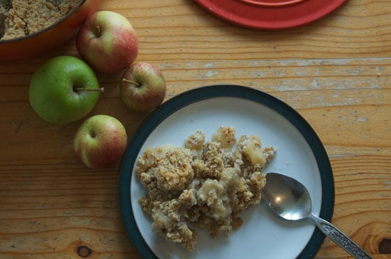 Sugar free apple, maple and pecan crumble sneaky veg photo