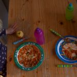 children eating pasta and sauce - five things I've learnt about feeding kids