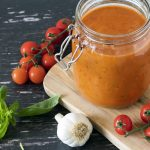 simple tomato sauce recipe for pasta by Sneaky Veg