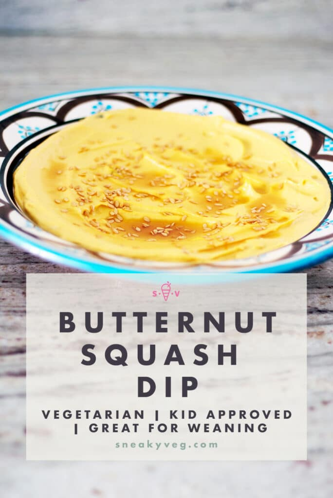 butternut squash dip in bowl