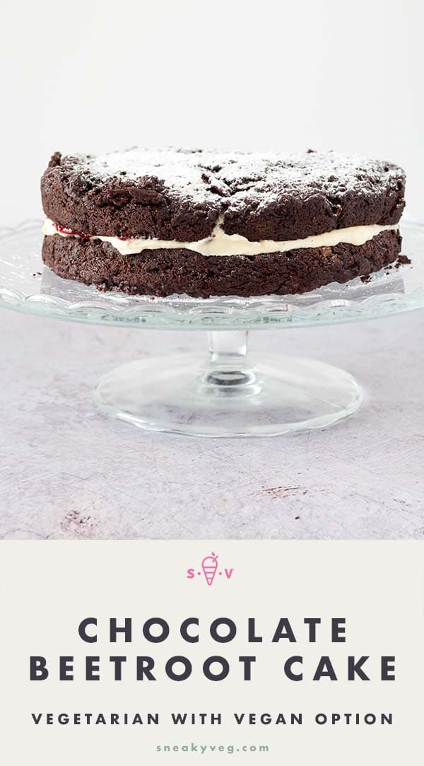 Chocolate beetroot cake recipe by Sneaky Veg
