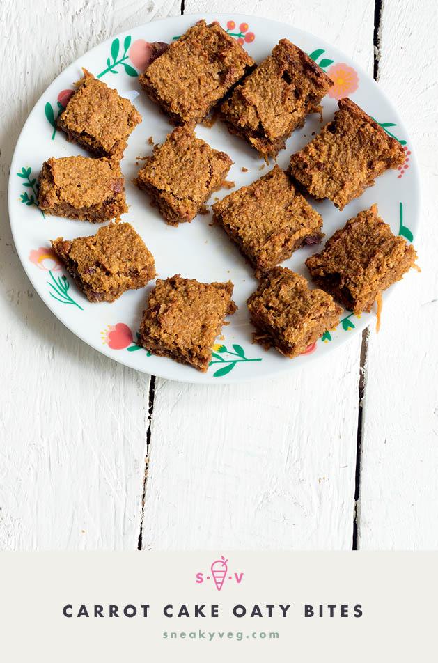 Carrot cake oaty bars
