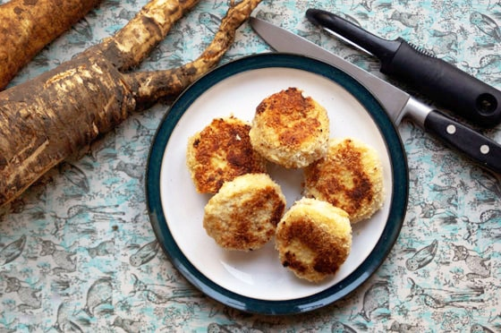 parsnip and potato cakes