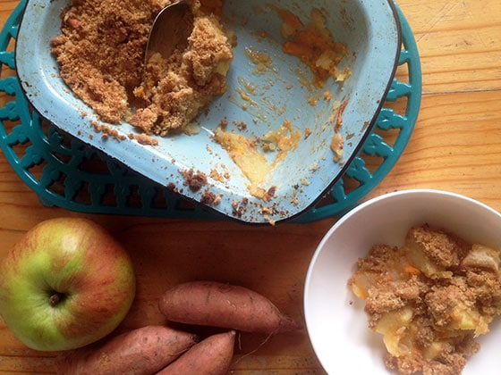 apple and sweet potato crumble recipe by Sneaky Veg