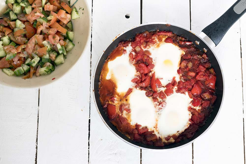 easy shakshuka recipe by Sneaky Veg