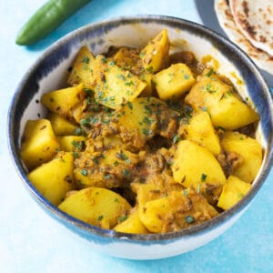 potato curry in bowl