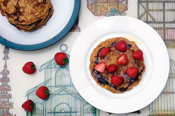healthy sweet potato pancakes recipe by Sneaky Veg