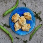 broad bean, feta and dill filo bites - a delicious broad bean recipe by Sneaky Veg