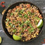 Mexican rice in wok