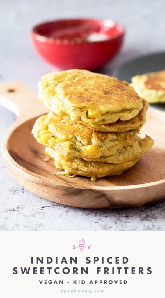sweetcorn fritters on plate