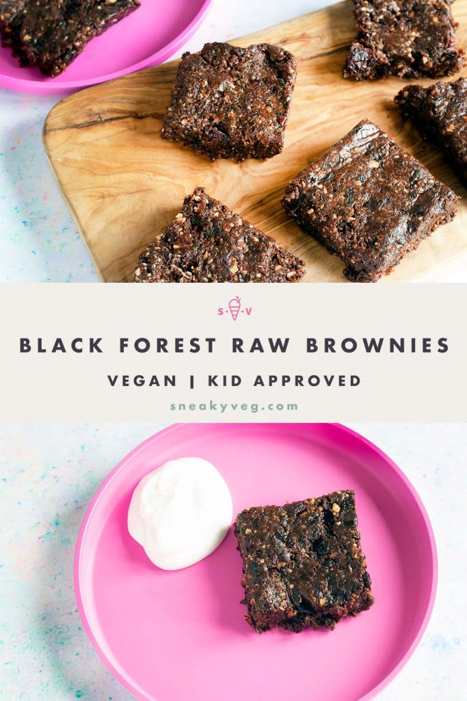 raw brownies on wooden board and pink plate