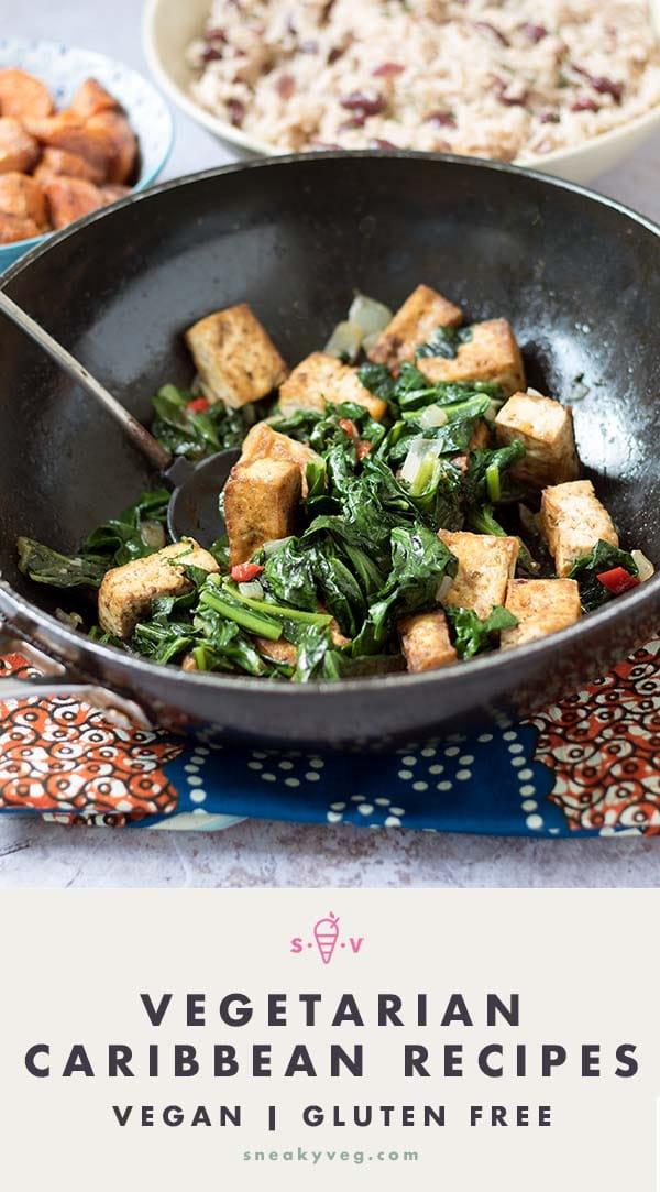 vegetarian or vegan caribbean recipes on table