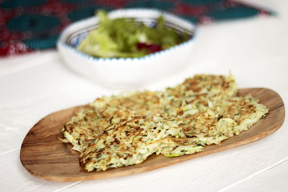 courgette and potato fritters recipe by Sneaky Veg