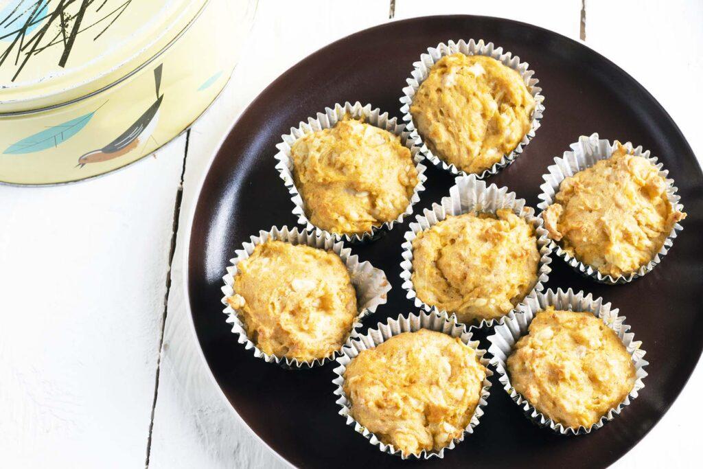 savoury muffins on plate