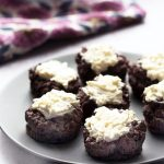 chocolate beetroot cupcakes on grey plate
