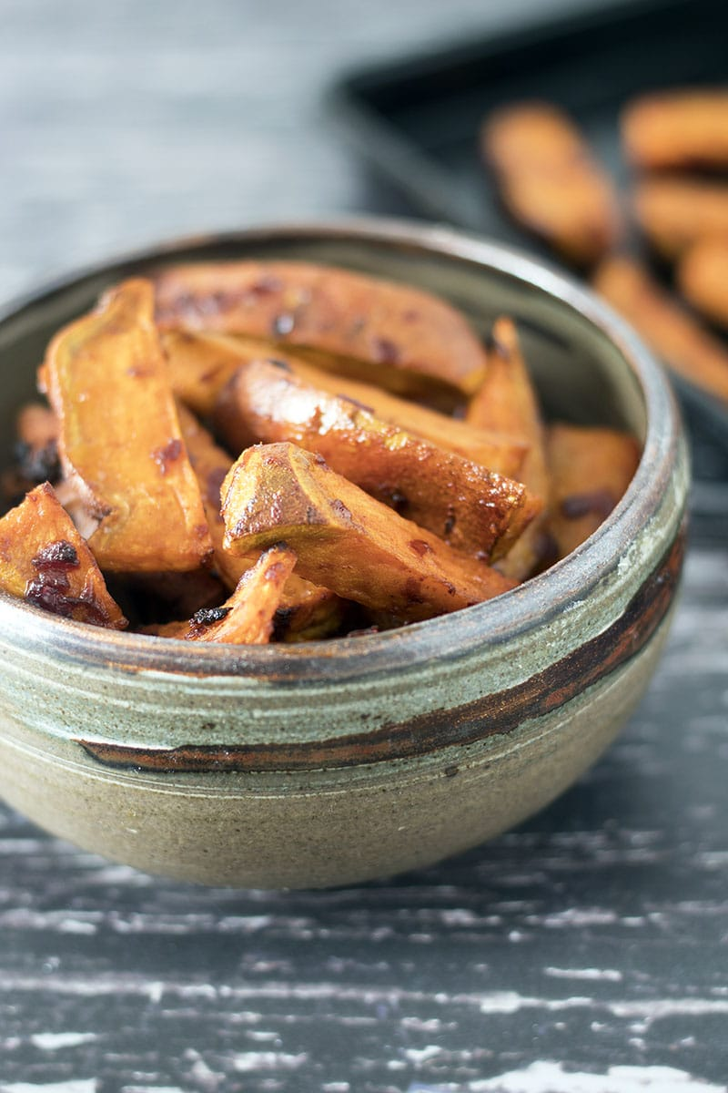 harissa sweet potato wedges