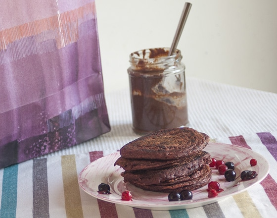 Chocolate beetroot pancakes recipe