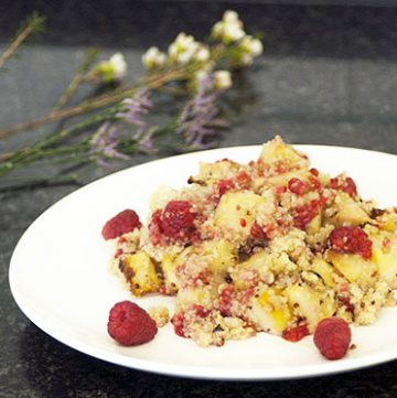 celeriac, raspberry and quinoa salad