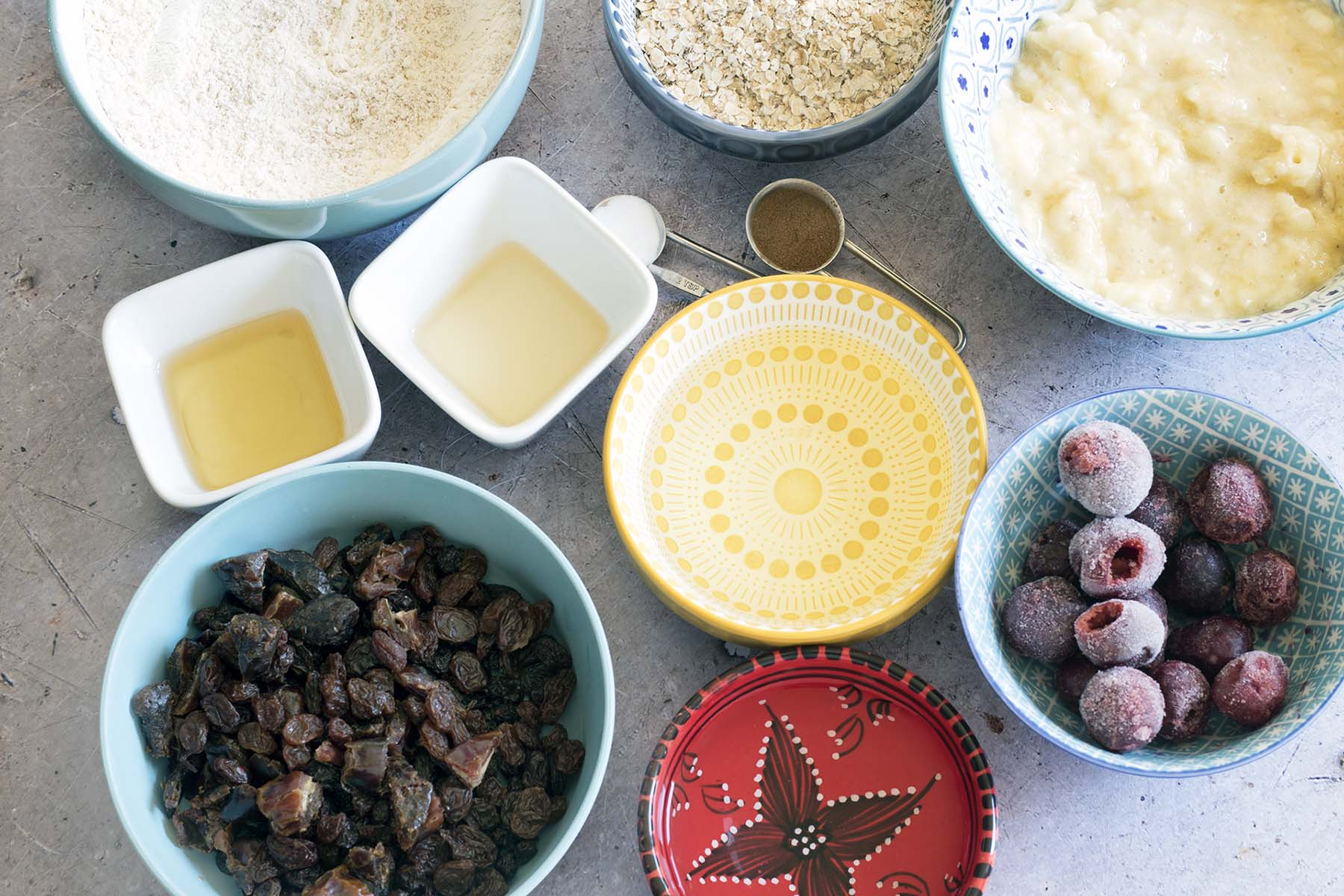 ingredients for cherry bars