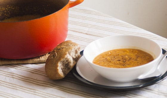 grocery shopping with kids - carrot and cumin soup