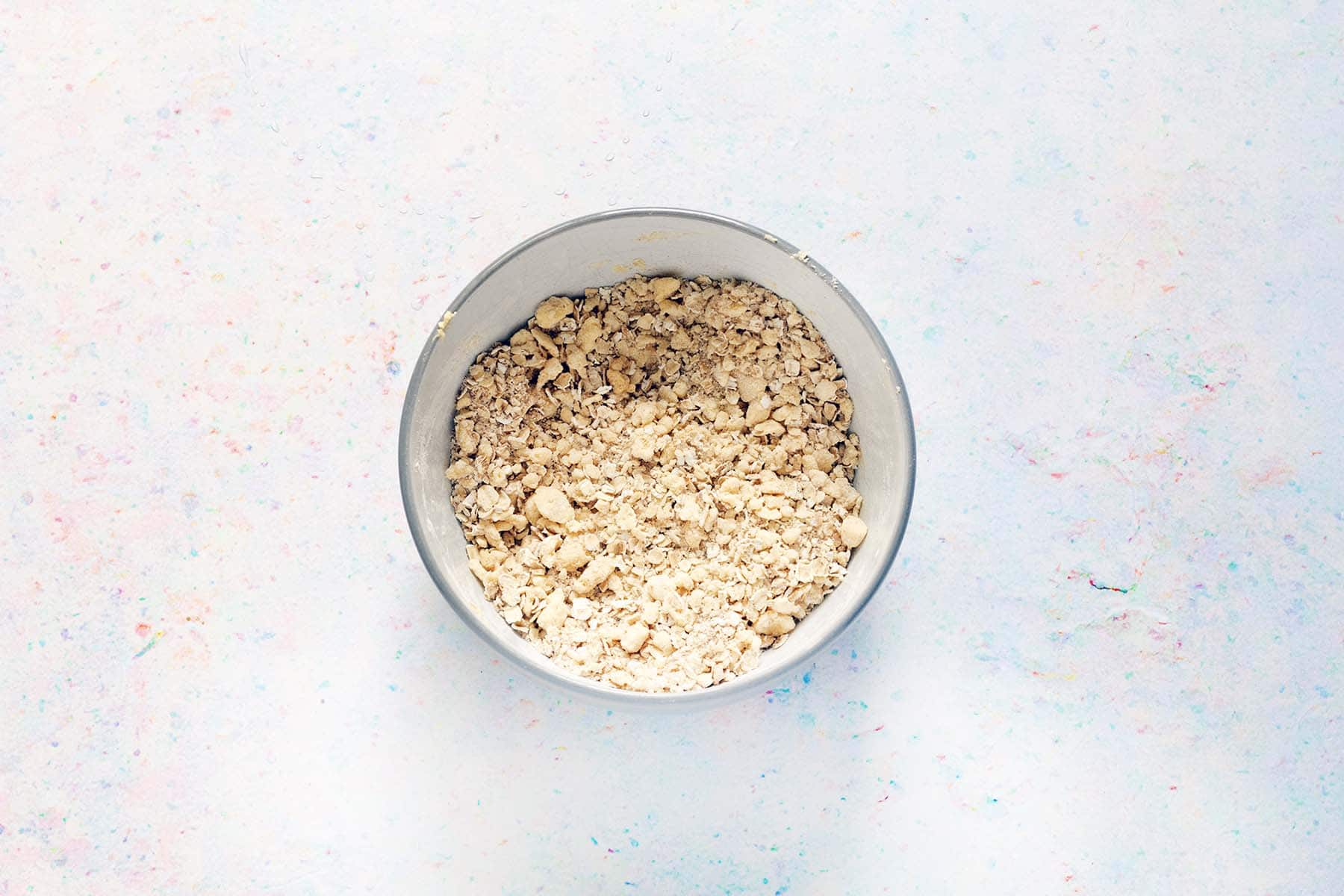 crumble topping in bowl