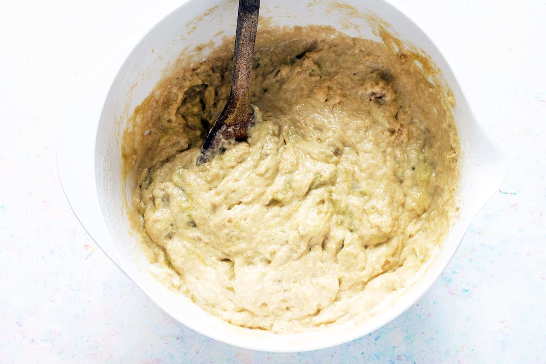 muffin batter in bowl