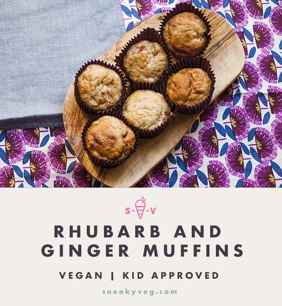 vegan rhubarb muffins recipe