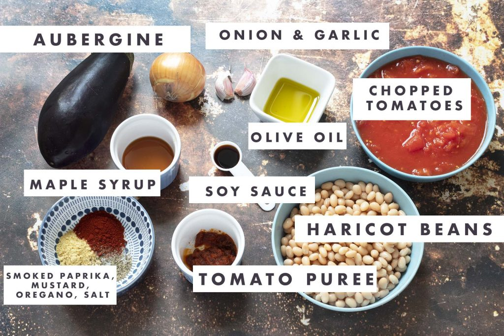 ingredients for smoky baked beans