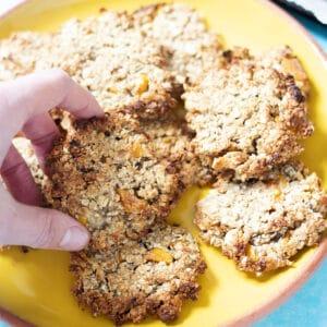 vegan tropical cookies on plate