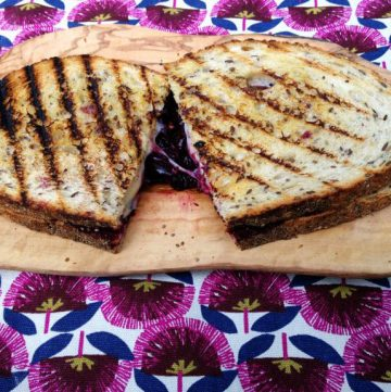 cherry and swiss cheese toasted sandwich