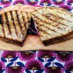 Cherry swiss cheese toastie