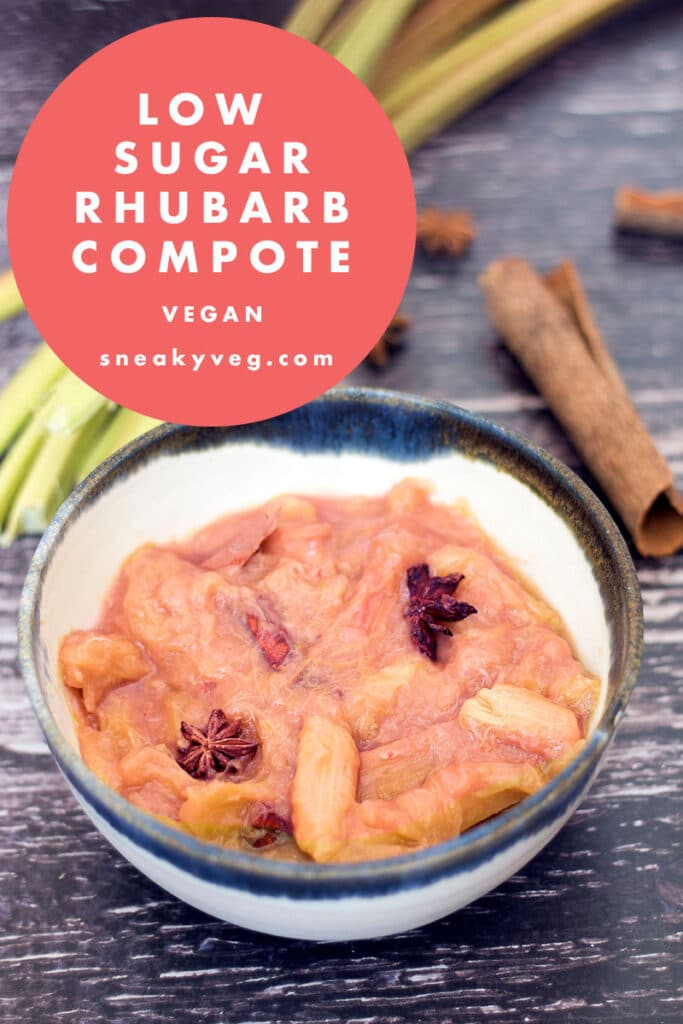 rhubarb compote in bowl with spices