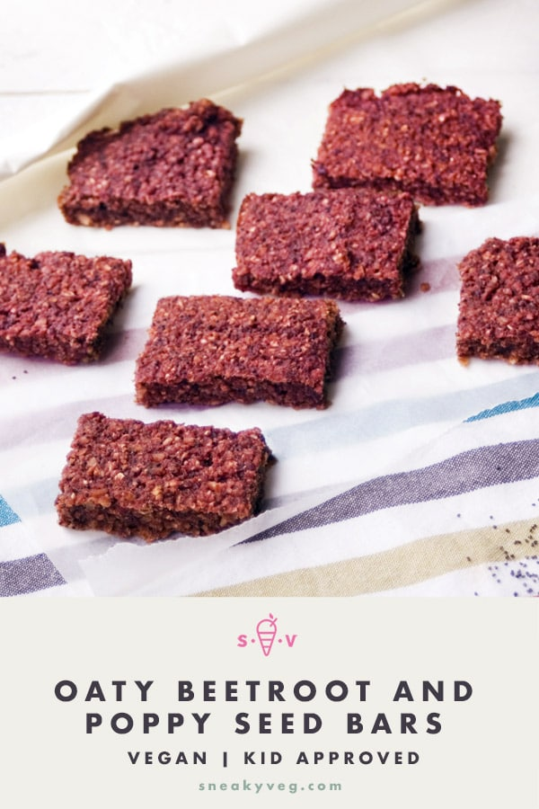 BEETROOT BARS ON STRIPED CLOTH