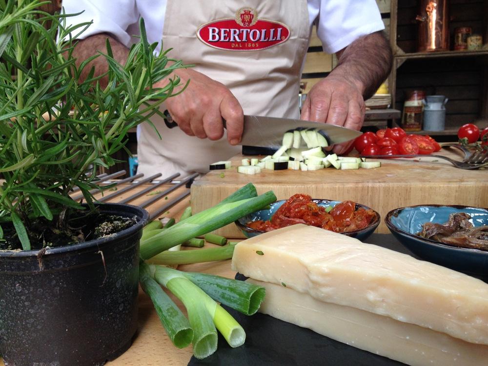 Gennaro Contaldo creating a delicious vegetarian pasta dish in minutes