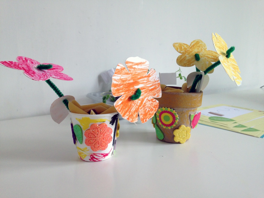 The finished flower pots