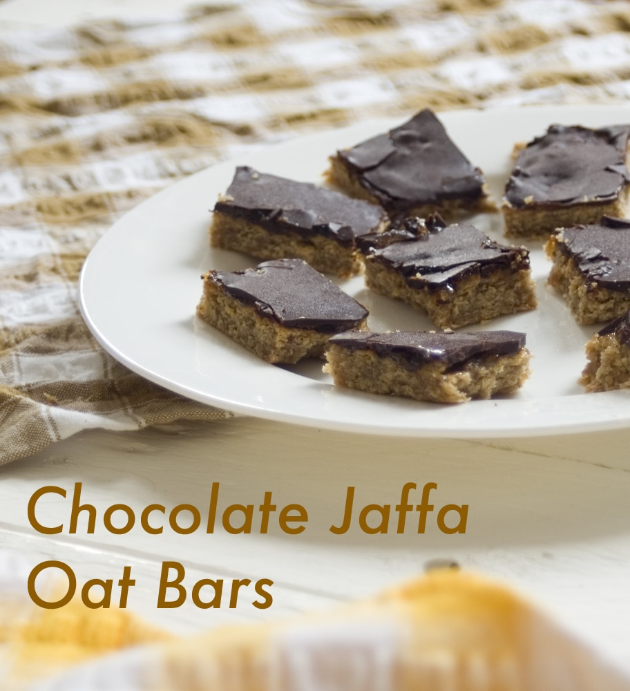 jaffa cake inspired chocolate orange bars recipe