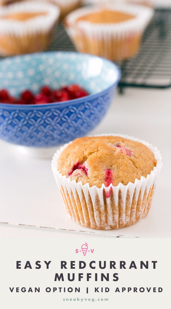 easy redcurrant muffins recipe