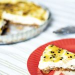 no bake passionfruit cheesecake