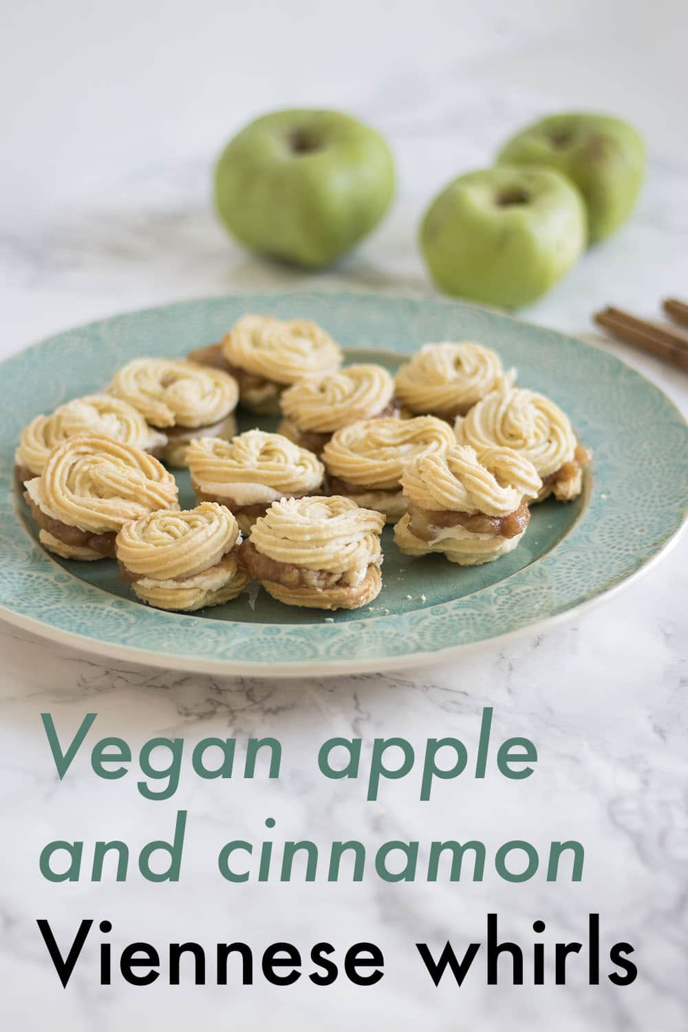 vegan viennese whirls recipe with apple and cinnamon
