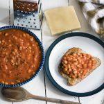 Homemade un-baked beans with hidden vegetables