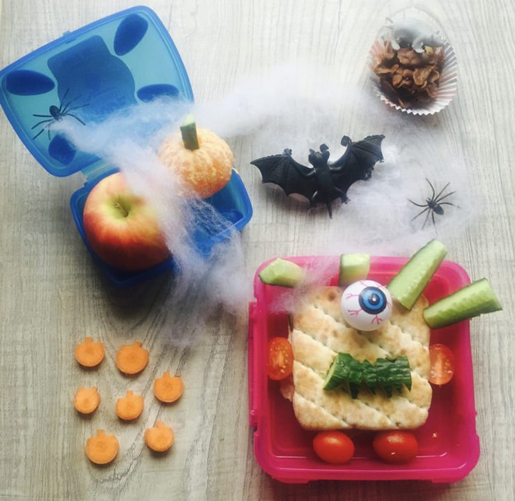 Halloween lunchbox by Lunchbox World - healthy halloween treats