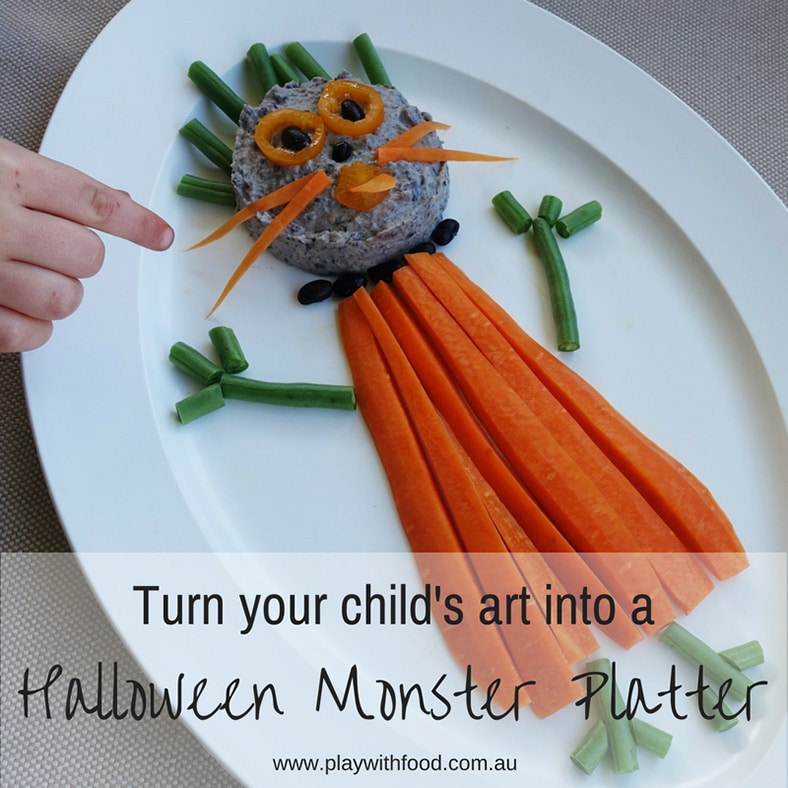 halloween monster platter by Play with Food - healthy Halloween treats