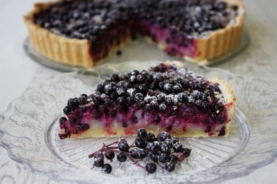 Elderberry tart