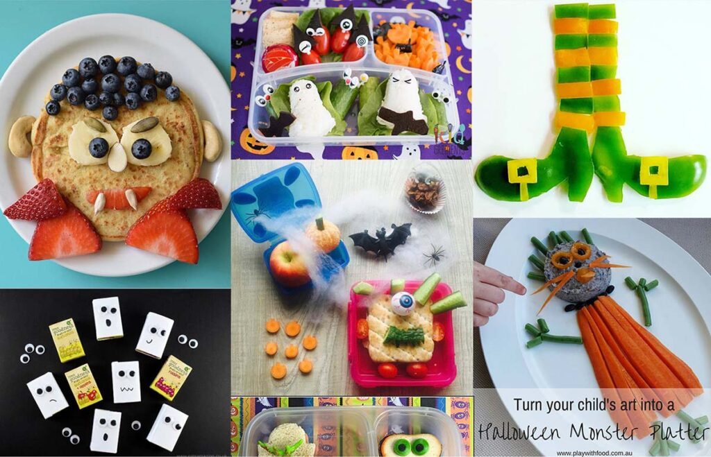 various healthy Halloween recipes for kids