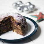 Vegan and refined sugar free Christmas pudding