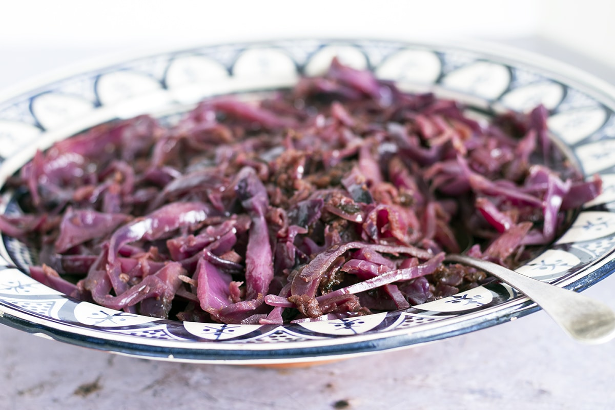 easy Christmas red cabbage recipe by Sneaky Veg