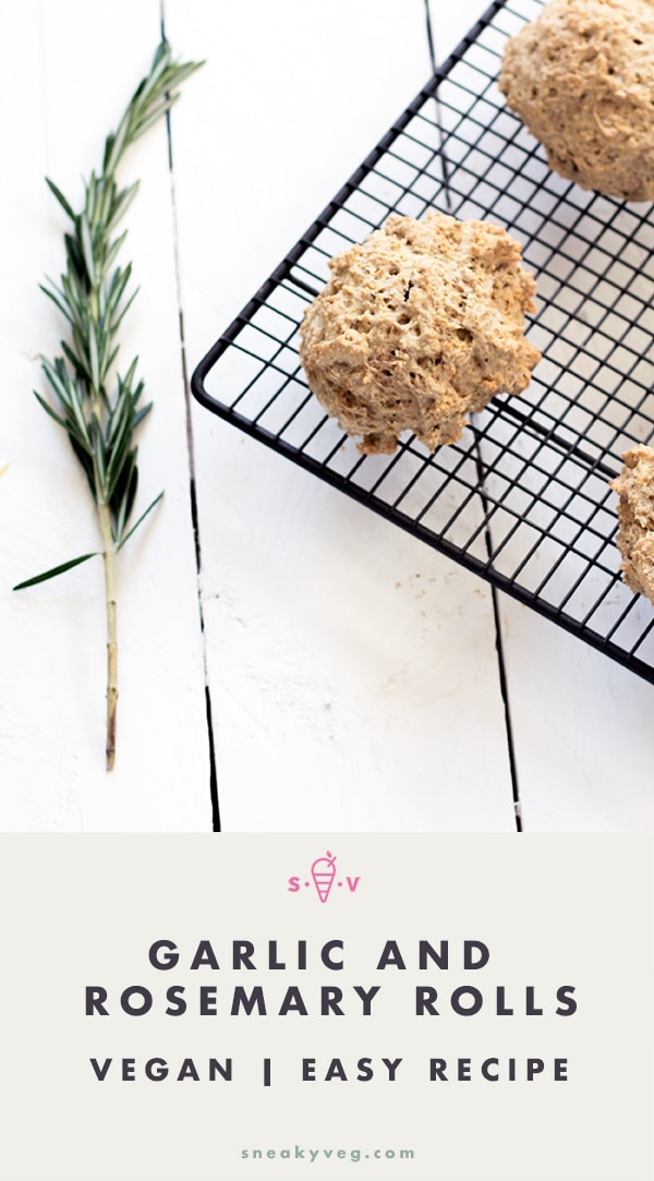 garlic and rosemary rolls