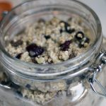 Christmas pudding overnight oats